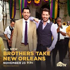"HGTV on Instagram: ""Brothers, Beignets, and Big renovations? Yes, please! Brothers Take New Orleans premieres Tonight 9|8c. @mrdrewscott @mrsilverscott @mrsilverscott @mrjdscott"""