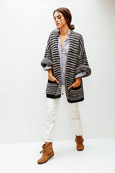Lexi in Closed Duster with Nili Lotan Shirt and Pant   shopheist.com