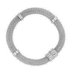 Jon Richard Silver mesh and crystal magnetic fastening bracelet- at Debenhams.com