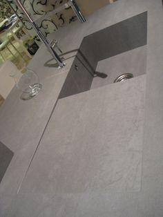 plan de travail en céramique avec évier intégré Laminam par Simeg