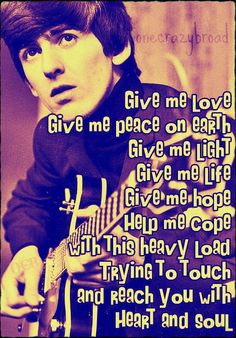 George Harrison - Give Me Love (Give Me Peace on Earth) - 1973 Album = Living in the Material World Song Lyrics
