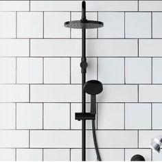 289 Bunnings Mondella Vivace Matte Black Shower Head
