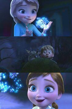 Frozen! Elsa, Kristoff & Sven & Anna <3