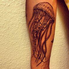 Jellyfish tattoo + forearm