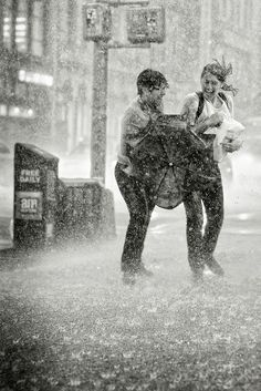 Dancing in the rain because your umbrella turns inside out.