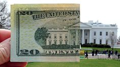 $20 bill and the White House