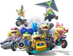 Koopalings - Mario Kart 8  Can I just stress how much I wish I had a WiiU for games like Mario Kart 8.