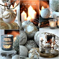 Cat-arzyna: My Christmas Baubles and Ornaments Christmas Baubles, Christmas Time, Christmas Crafts, New Years Decorations, Christmas Decorations, Iron Orchid Designs, Cactus Y Suculentas, Paperclay, Halloween Season