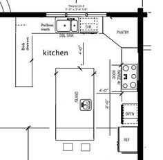 Small Kitchen Layout Design Blueprint | Gokitchenideas.com
