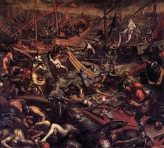 PERANDA, Sante Naval Victory of the Venetians at Jaffa 1590s Oil on canvas Palazzo Ducale, Venice