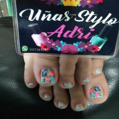 Toe Nail Art, Toe Nails, Toe Nail Designs, Manicure And Pedicure, Diana, Hair Beauty, Candy, Uni, Pretty Pedicures
