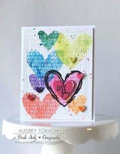 Love You Watercolor Resist -