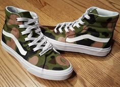 Bape Camo Vans Sk8-Hi - Kicks I Like