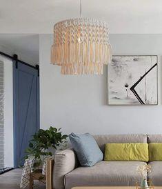 Macramé Hanging Pendant Light Shade Plant Hanger