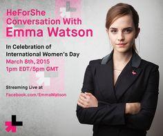 International Women's Day - March 8, 2015 / UN Women Goodwill Ambassador Emma Watson