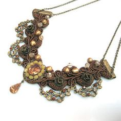 Brown Lace Victorian Necklace - Talila Design - Beadworthy I've been featured on Beadworthy http://beadworthy.com/