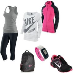Cute workout outfit! Hot pink and black! http://myshakeology.com/esuite/home/emshakeitfit