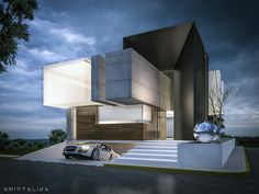 #architecture #modern #facade #contemporary #house #design