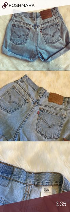 Vintage high waisted Levi's Perfect condition, very comfortable, 27 inch waist, no trades, open to offers, 20% off bundles Levi's Shorts Jean Shorts