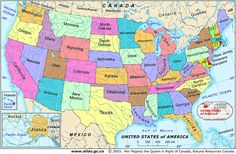 united states map printable