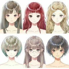 36 New Style Hairstyle Anime Girl Anime Eyes, Manga Anime, Wie Zeichnet Man Manga, Pelo Anime, Hair Sketch, Poses References, Hair Reference, Manga Drawing, Drawing Tips