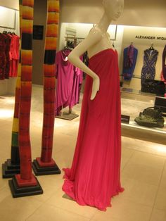 saw this dress while in Chicago at Bloomingdales and I absolutely fell in love. My picture doesn't do it justice. It is a silk flowing ombre chiffon dress that drapes perfectly and has a beautiful train following it. I love it<3 retail: $3,800; Alexander McQueen