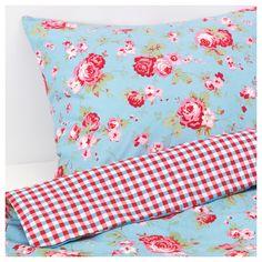 Cath Kidston For Ikea Rosali Double Duvet Cover & ( Blue ) Double Duvet Covers, Bed Covers, Bedding Shop, Linen Bedding, Bed Linen, Baby Bedding, Cath Kidston Quilt, Bunting, Ikea Duvet Cover