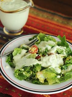 Avocado Ranch Salad Dressing Recipe is a zesty and creamy addition to any favorite salad on dineanddish.net