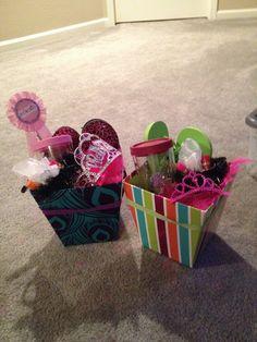 Kids pedicure gift basket