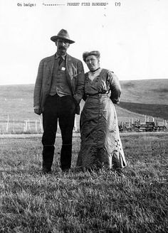 Unidentified Forest Fire Ranger With His Wife  1900