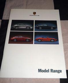 PORSCHE 911 GT2 TURBO CARRERA 4 COUPE CABRIO TARGA BOXSTER S BROCHURE PROSPEKT