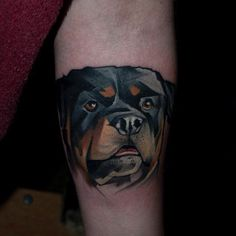 Geometric Rottweiler Tattoo