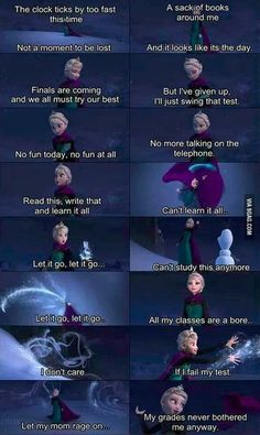 Let it go #Frozen exams