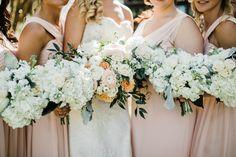 Kathryn + Drew: Enchanting Garden Wedding | Lowcountry Bride, Gayla Harvey with Tiger Lily Weddings, May 2018, Charleston SC, White , peach bouquet