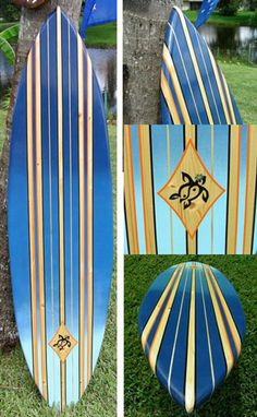 TIKI SOUL DECORATIVE SURFBOARD ART - Pink Lani Surfboard decor ...