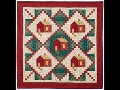 Log Cabin in the Woods Quilt Video by Sharlene Jorgenson – Hazir Site American Barn, Farmer's Daughter, Log Cabin Quilts, Cabins In The Woods, Quilting Tutorials, Quilt Blocks, Heartland, Rugs, Sewing