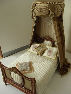 Miniature canopied bed by JoMed