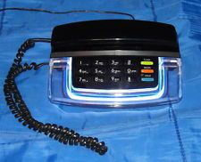 Krystalite Blue Neon Phone, Radio Shack CAT. NO. 43-811 - Retro, WORKS GREAT