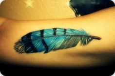 Reminds me of blue jay feathers I used to collect as a kid.