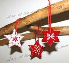 3 suspensions étoiles pour décoration sapin