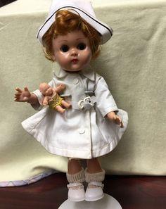 Vintage Vogue Ginny Doll  BKW  Red  ponytail Baby Nurse LOOK! #Vogue #Dolls