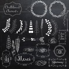 Buy 2 Get One Free Chalkboard Elements and by TanglesTreasures, $4.50