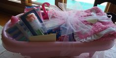 Baby Shower Gift for a girl (Bathtub filled with items)