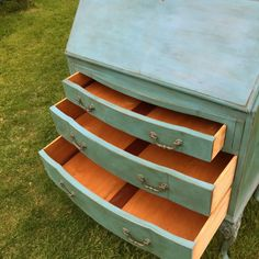 Image result for painted writing bureau