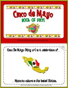 Cinco de Mayo Mini Book of Facts with a Color-To-Match Activity For Kids #cincodemayo $ #edu