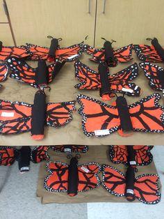Paper mâché butterflies