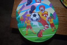 "Vintage Mc Donalds Plate 2002 Round 9/"" Plane Airplane Hamburglar Advertising"
