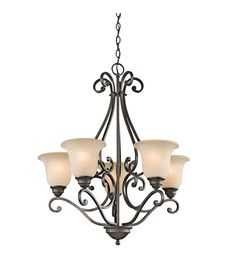 Buy the Kichler Olde Bronze Direct. Shop for the Kichler Olde Bronze Camerena 5 Light Wide Chandelier with Bell Shaped Scavo Glass Shades and save. Bronze Chandelier, 5 Light Chandelier, Chandelier Shades, Chandeliers, Chandelier Ideas, Empire Chandelier, Pendant Lights, Luz Natural, Devon