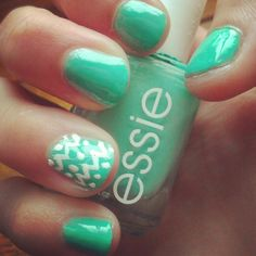 I love this, mint nail polish.