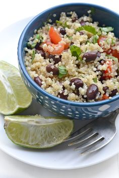 Lunchbox Black Bean Quinoa Salad - Fork and Beans Plant Based Whole Foods, Plant Based Eating, Plant Based Diet, Plant Based Recipes, Veggie Recipes, Whole Food Recipes, Vegetarian Recipes, Healthy Recipes, Vegan Meals